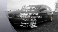 bmw_320d_184_ps_0-100_0-200_233_kmh_topspeed_run_-_youtube